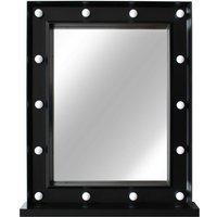 Hollywood LED Standing Mirror Black - 40X50CM