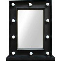 Hollywood Small Square Mirror - Black