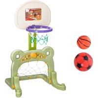 2 in 1 Sport Center Basketball Hoop Stand Soccer Net Toddler