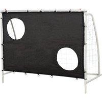 3-In-1 Football Net Goal Shot Practice Rebounder Steel Frame