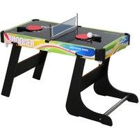HOMCOM 4-In-1 Gaming Table Hockey Football Table Tennis Pool