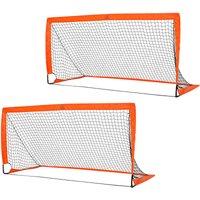 90x180cm Folding Football Goal Outdoor Sports Exercise Socce