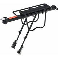 HOMCOM Aluminium Frame Bike Bicycle Bag Carrier Luggage Holder w/ Reflector
