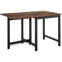 Drop Leaf Kitchen Foldable Table Folding Table Foldable Dining Room - Homcom
