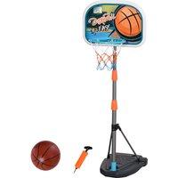Set Canestro per Bambini Regolabile in Altezza con Palla da Basket Base e Pompa Gonfiaggio Inclusi - Homcom