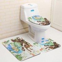 Home Bathroom Decor Set 3 pcs mats