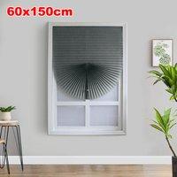 Home Cordless Pleated Light Filtering Fabric Shade Grey,24W x 59L,model:Grey 24W x 59L