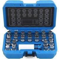 Hommoo 23 Piece Rim Lock Socket Set for VAG QAH07920