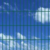 2D Garden Fence Panels 2008x1830 mm 20 m Green QAH16865 - Hommoo