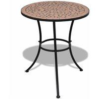 Hommoo 3 Piece Bistro Set Ceramic Tile Terracotta QAH15509
