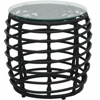 Hommoo 3 Piece Bistro Set Poly Rattan Black QAH46571