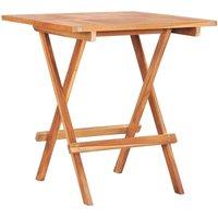 3 Piece Folding Bistro Set Solid Teak Wood QAH46816 - Hommoo