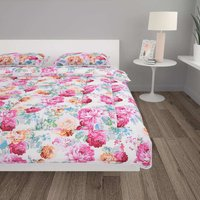 3 Piece Winter Duvet Set Fabric Printed 240x220/60x70 cm VD03161 - Hommoo