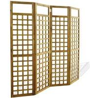 4-Panel Room Divider / Trellis Solid Acacia Wood 160x170 cm VD28037 - Hommoo