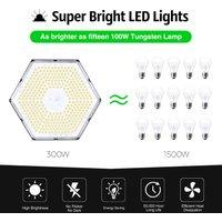5 Piece Honeycomb High Bay Light 300W 220V (Pendant Chain Ty