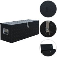 Aluminium Box 1085x370x400 mm Black VD06234 - Hommoo