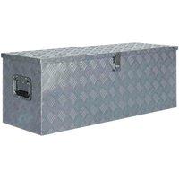 Hommoo Aluminium Box 110.5x38.5x40 cm Silver VD04955