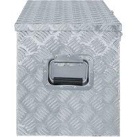 Aluminium Box 110.5x38.5x40 cm Silver QAH04955 - Hommoo