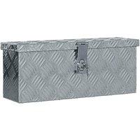 Aluminium Box 48.5x14x20 cm Silver VD04949 - Hommoo