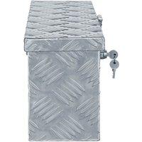 Aluminium Box 48.5x14x20 cm Silver QAH04949 - Hommoo