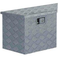 Aluminium Box 70x24x42 cm Trapezoid Silver VD04956 - Hommoo