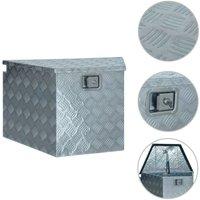 Aluminium Box 737/381x410x460 mm Silver VD06232 - Hommoo