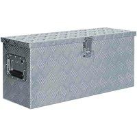 Hommoo Aluminium Box 76.5x26.5x33 cm Silver VD04952