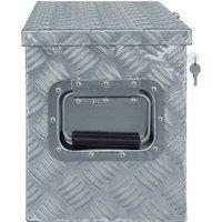 Aluminium Box 76.5x26.5x33 cm Silver QAH04952 - Hommoo