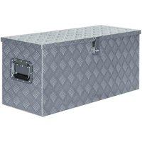 Aluminium Box 90.5x35x40 cm Silver VD04954 - Hommoo