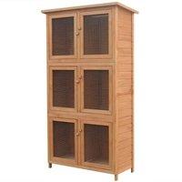 Hommoo Animal Rabbit Cage 6 Rooms Wood