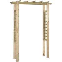 Arbour / Rose Arch 150x50x200 cm FSC Impregnated Wood VD26753 - Hommoo