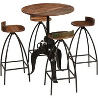 Bar Set 5 Pieces Solid Reclaimed Wood VD11272 - Hommoo