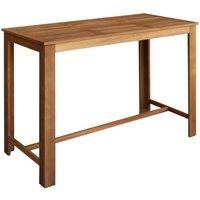 Bar Table Solid Acacia Wood 150x70x105 cm VD12590 - Hommoo