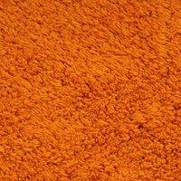 Bathroom Mat Set 3 Pieces Fabric Orange QAH02205 - Hommoo