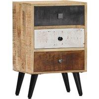 Bedside Cabinet 40x30x60 cm Solid Mango Wood QAH23941 - Hommoo