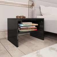 Bedside Cabinet High Gloss Black 40x30x30 cm Chipboard VD31106 - Hommoo