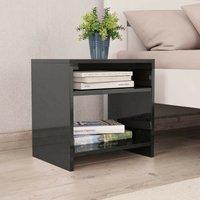 Bedside Cabinet High Gloss Black 40x30x40 cm Chipboard VD31052 - Hommoo