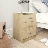 Hommoo Bedside Cabinets 2 pcs Sonoma Oak 38x35x56 cm Chipboard VD31486