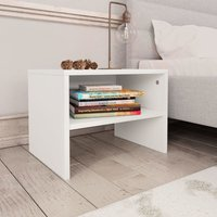 Bedside Cabinets 2 pcs White 40x30x30 cm Chipboard VD31093 - Hommoo