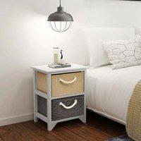 Bedside Cabinets 2 pcs Wood VD09503 - Hommoo