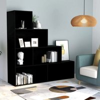 Book Cabinet/Room Divider Black 155x24x160 cm Chipboard VD31692 - Hommoo