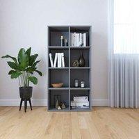 Hommoo Book Cabinet/Sideboard Grey 66x30x130 cm Chipboard VD31184