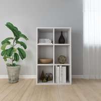 Hommoo Book Cabinet/Sideboard High Gloss White 50x25x80 cm Chipboard VD31377