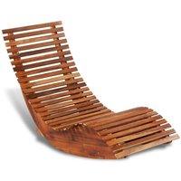 Chaise longue basculante Bois d'acacia HDV27162 - Hommoo