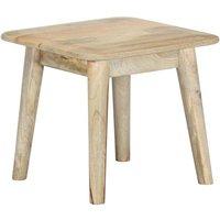 Coffee Table 45x45x40 cm Solid Mango Wood VD23801 - Hommoo