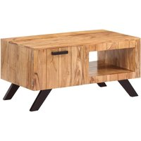 Hommoo Coffee Table 90x50x45 cm Solid Acacia Wood VD13364