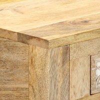 Console Table 110x30x75 cm Solid Mango Wood QAH13597 - Hommoo
