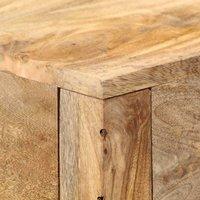 Console Table 120x30x75 cm Solid Mango Wood QAH13593 - Hommoo