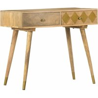 Hommoo Console Table 89x44x75 cm Solid Mango Wood