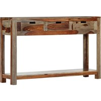 Hommoo Console Table with 3 Drawers 120x30x75 cm Solid Sheesham Wood VD13605